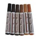 grossiste Stylos et crayons: LOT DE 6 FEUTRES DE RETOUCHE BOIS