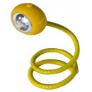 grossiste Ampoules: LAMPE LISEUSE LED  FLEXIBLE TOURBILLON JAUNE