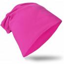 Großhandel Kopfbedeckung: Kinder Beanie Mütze Unifarbe Magenta S