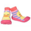Großhandel Schuhe: Baby Hausschuhe Ente Rosa 20