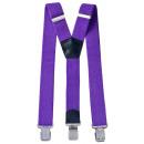 wholesale Belts: Long Suspenders Y Shape 4cm Wide Purple