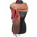 wholesale Scarves & Shawls: Shawl Stole  Pashmina as 06 Red Brown Green