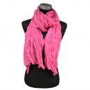 Großhandel Fashion & Accessoires:Crinkle Schal Offen Pink