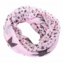 wholesale Fashion & Mode:Star Loop Scarf Pink