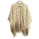 wholesale Pullover & Sweatshirts:PONCHO KNITTED ivory