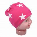 wholesale Headgear: Children Beanie Small Star Magenta L