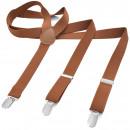 grossiste Vetement et accessoires: Bretelles Y Forme XXXL Cuivre Brun