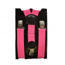 wholesale Belts: Long Suspenders Y Shape 4cm Wide Pink