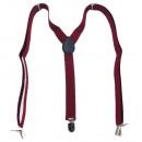 groothandel Kleding & Fashion: Lange bretel  Y-vorm stijl effen kleur bordeauxrood
