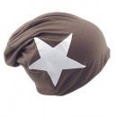 ingrosso Cappelli: Beanie White Star Gray Brown