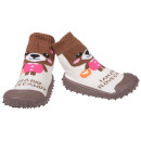 wholesale Shoes: Baby Slippers Bear Brown 22
