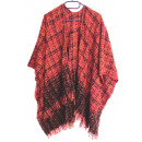 grossiste Pulls et Sweats:Poncho Rouge TRICOT
