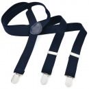 Großhandel Gürtel: Long Hosenträger Y  Form Style Unifarbe Schwarzblau
