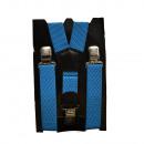 Großhandel Gürtel: Long Hosenträger Y  Form 4cm Breit hellblau