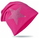 ingrosso Cappelli: I bambini Beanie  strass Stella Magenta XL