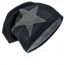 ingrosso Cappelli: Knit Beanie  Antracite strass stelle