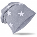 Kids Beanie Hat Small Star Gray L