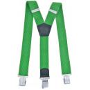 wholesale Belts: Long Suspenders Y Shape 4cm Wide Green
