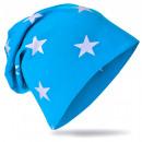 Großhandel Kopfbedeckung: Kinder Beanie Mütze Klein Stern Lichtblau L