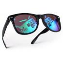 Großhandel Sonnenbrillen: Kinder Nerd Sonnenbrille Schwarz Karibikblau