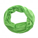 wholesale Fashion & Apparel: Jersey fabric  round loop scarf Unicoloured green