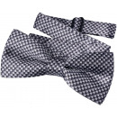 wholesale Ties: Bow Tie Kids Boys Gray Checkered