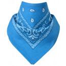 Großhandel Tücher & Schals:Bandana Paisley Hellblau