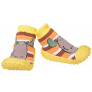 wholesale Shoes: Baby slippers moose yellow 22