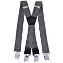 wholesale Belts: Long Braces X Shape 4cm wide gray