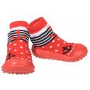 Großhandel Schuhe: Baby Hausschuhe Anker Rot 19