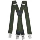 Großhandel Gürtel: Long Hosenträger X  Form 4cm Breit olivgrün