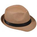 grossiste Articles de fête: Panama Hat Fedora  chapeau de paille Camel 54