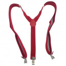 wholesale Belts: Long Suspender Y  Form Style Unicoloured Red