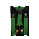 Großhandel Gürtel: Long Hosenträger X Form 4cm Breit Grün
