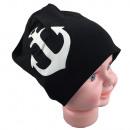wholesale Headgear: Children Beanie large anchor Black L