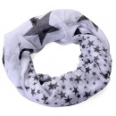 Star Loop Scarf White