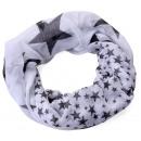 wholesale Fashion & Apparel:Star Loop Scarf White