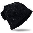 Beanie Mütze DestNieten Schwarz