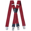 Großhandel Gürtel: Long Hosenträger X Form 4cm Breit weinrot