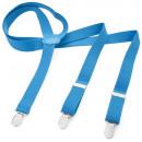 Großhandel Gürtel: Long Hosenträger Y Form Style Unifarbe Lichtblau