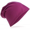 Großhandel Kopfbedeckung: Beanie Mütze Unifarbe Orchidee