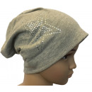 ingrosso Cappelli: I bambini Beanie  Strass 2 Stelle Grey L
