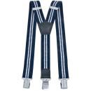 wholesale Belts: Long Suspenders Y Shape 4cm Wide Striped Dark