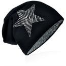 wholesale Fashion & Apparel: Knit beanie rhinestone star black