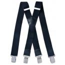 Großhandel Gürtel: Long Hosenträger X  Form 4cm Breit schwarz