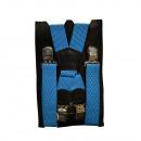wholesale Fashion & Apparel: Long Carrier X  Shape 4cm Wide light blue