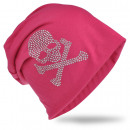 grossiste Figurines & Sclulptures: Beanie Skull and Bone Rose Strass