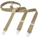 groothandel Kleding & Fashion: Lange bretel Y-vorm stijl effen kleur Sand