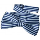 wholesale Ties: Bow Tie Kids Boys Blue Lined