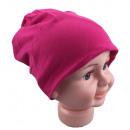 Kinder Beanie  Mütze Unifarbe Magenta M